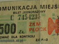 bilet ważny jedynie w miejscie Płock
