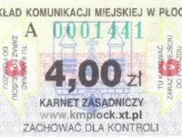 4,00 zł - karnet normalny, 6-przejazdowy