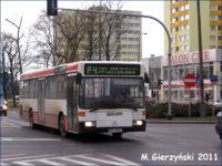 Mercedes-Benz O405N (WPL 44ML) na linii P-4
