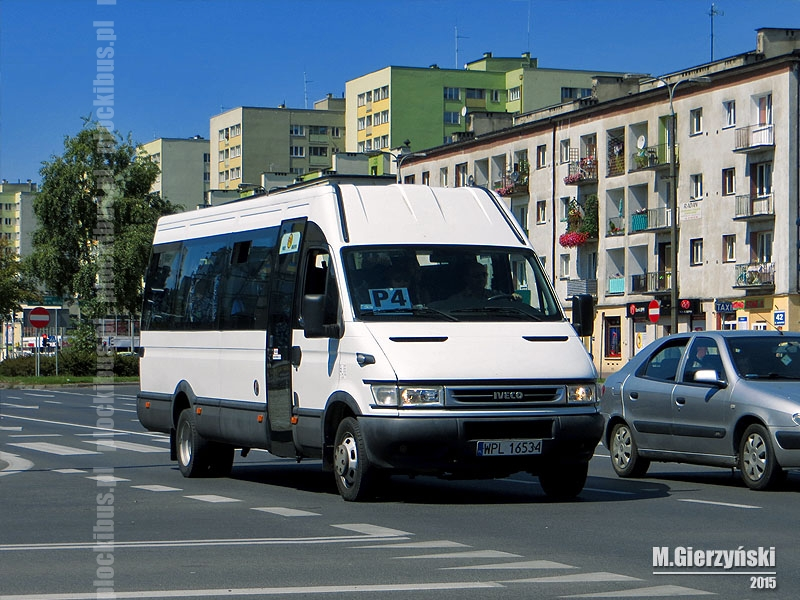 Iveco Daily 50 C17 (WPL 16534) na linii P-4