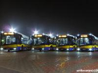 Solarisy IV generacji pod fabryką w Bolechowie