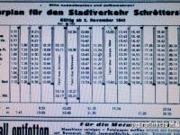 Rozkład jazdy komunikacji miejskiej w Płocku z listopada 1942 r. Źródło: Sudostpreussische Tageszeitung