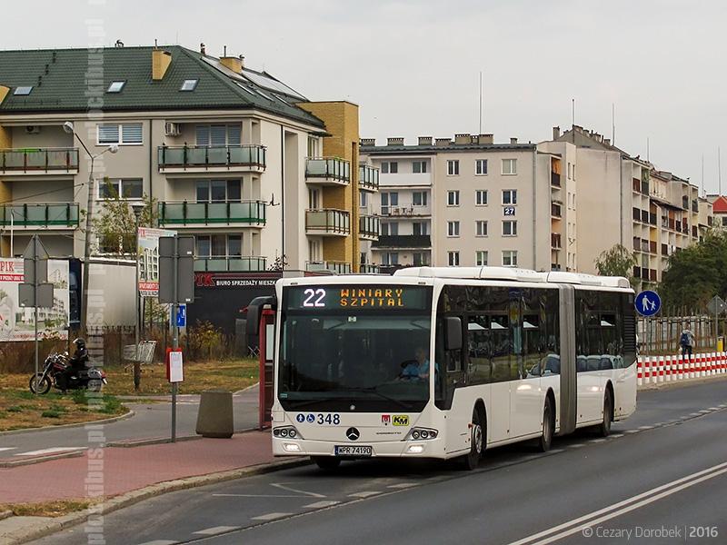 Testowy Mercedes Conecto G na linii nr 22