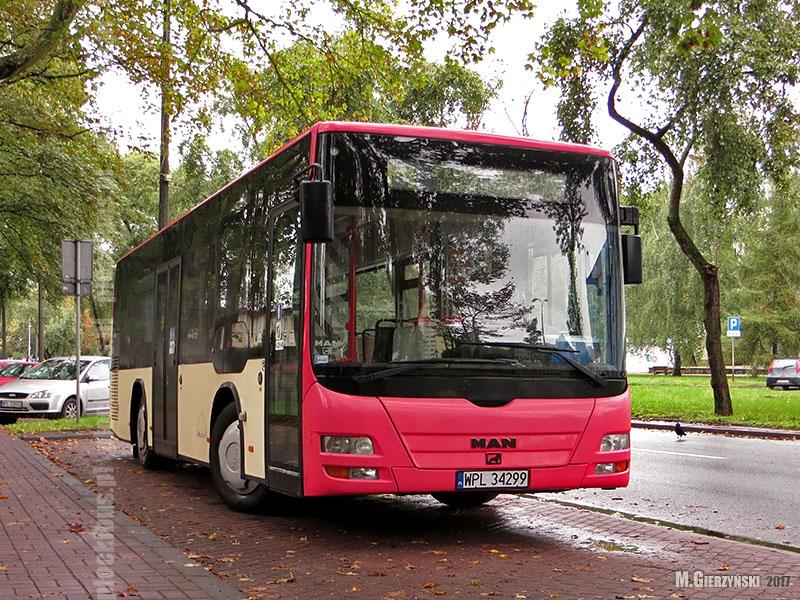 MAN Lion's City M (WPL 34299) na linii P4