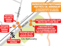 Rozmieszczenie przystanków w rejonie Cmentarza Komunalnego (źródło: kmplock.eu)