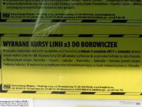 Informacja dot. linii x3