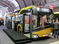 Solaris Urbino IV 12 Hybrid podczas polskiej premiery na targach Transexpo 2016