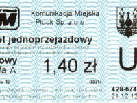 Bilet z biletomatu Ticomat 8010