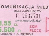 0,55 zł / 5500 zł - ulgowy, strefa B