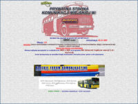 Ekran powitalny pierwszej wersji strony Płockibus