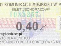 0,40 zł - ulgowy
