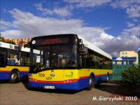 Solaris Urbino III 12 #709 z wyświetlaczem reklamującym stronę Płockibus