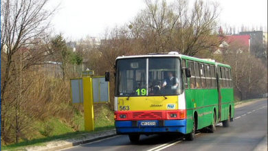Ikarus #563 jeszcze jako pojazd liniowy