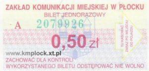 0,50 zł - ulgowy
