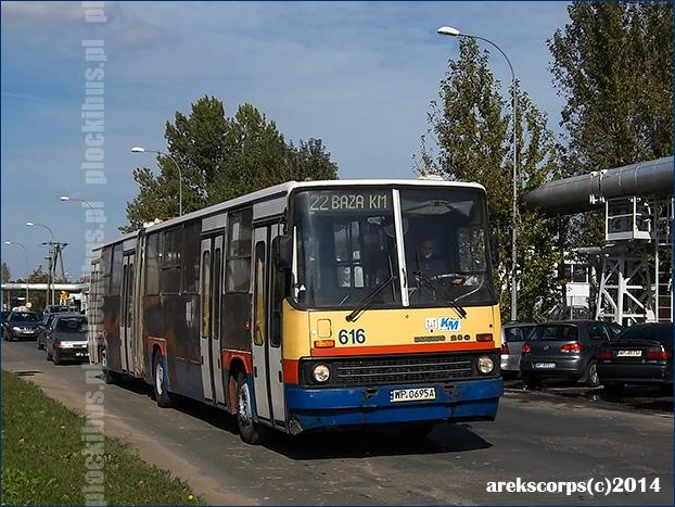 Ikarus 280.70H #616 w drodze do BTSu