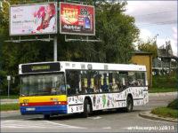 Neoplan #677 oklejony przez dzieci w 2013 r.