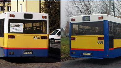 Malowanie tylnych ścian na bliźniaczych autobusach #684 i #688