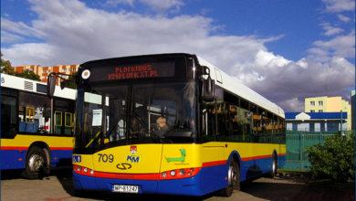 Solaris z najwyższym obecnie numerem taborowym #709, który przybył do Płocka 7 stycznia 2010 r.