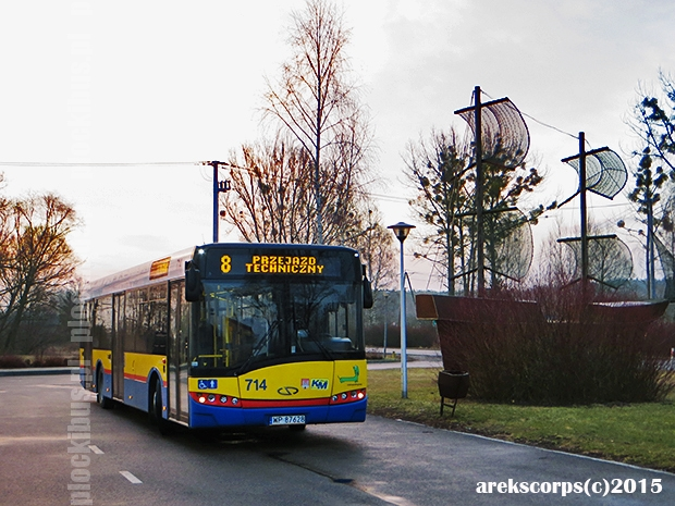 #714 na parkingu Gościniec Pod Żaglami (Nowa Wieś)