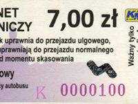 karnet 5-odcinkowy 7,00 zł