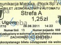 Wydrukowany bilet, którego nie trzeba już kasować