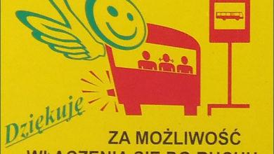 Nowe naklejki na autobusach