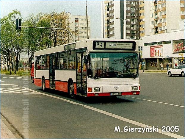 MAN NL202 (WPL 64JJ) na linii P-4