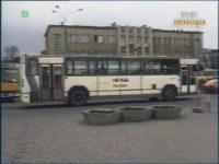 Jelcz PR110 - karawan, należący do MPGK Płock. Zrzut ekranu z Dziennika Telewizyjnego. Źródło: TVP Historia.