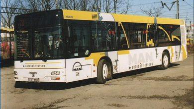 MAN NL-293 Single City na testach w Płocku, pętla Otolińska