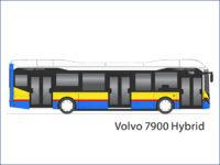 Wizualizacja Volvo 7900 Hybrid w płockich barwach