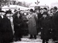1960 r. - uroczystości związane z zapoczątkowaniem komunikacji miejskiej w Płocku
