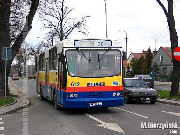 linia nr 30 na ul. Dobrzyńskiej