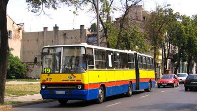 Ikarus #617 na dwukierunkowej ulicy Kwiatka (na czas objazdu)