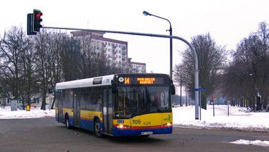 705 wraca z nowej trasy linii 14