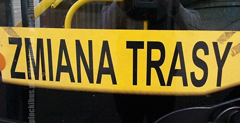 tablica zmiana trasy