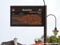 komunikat na tablicy dynamicznej informacji pasażerskiej