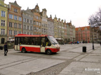 Linia nr 100 na Długim Targu w Gdańsku