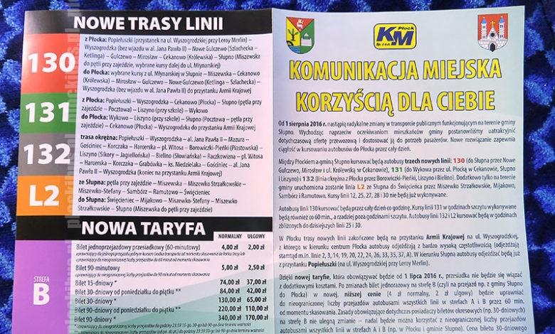 Photo of Od 1 sierpnia komunikacja w Słupnie po nowemu