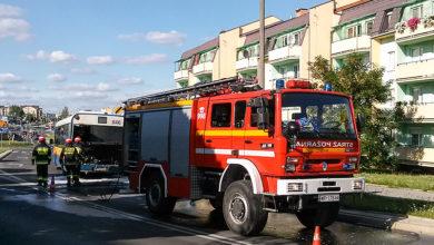 Akcja gaszenia pożaru w Solarisie #646