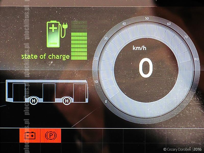 Zbliżenie na poziom naładowania baterii