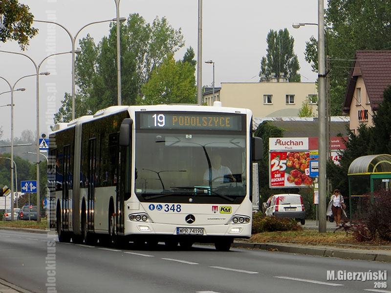 Testowy Mercedes Conecto G na linii nr 19
