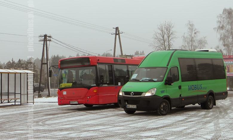 Autobus linii 115 oraz bus komunikacji zastępczej