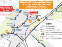 Zamknięcie ul. Wiadukt - objazdy (źródło: kmplock.eu)