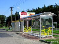 Wiata na rowery na pętli w Słupnie