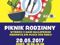 Plakat promujący piknik rodzinny (źródło: kmplock.eu)