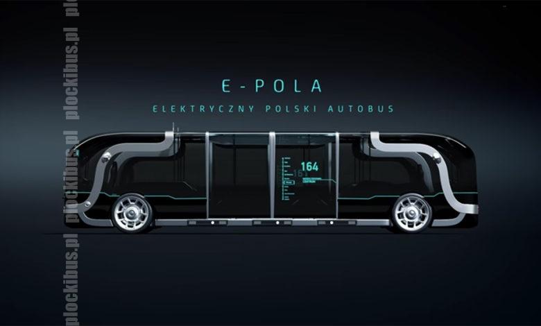 Wizualizacja polskiego elektrycznego autobusu o nazwie E-Pola