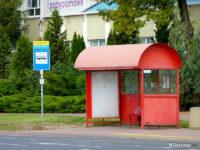 Wiata typu MK Cafe na przystanku Stanisławówka