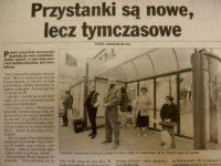 Artykuł z 1997 r. na temat nowych wiatokiosków - Gazeta na Mazowszu