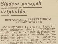 """Teskt w """"Tygodniku Płockim"""" z 1972 r. o wiatach ze szklanymi dachami"""