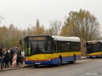 Linia 77 kursująca między cmentarzem a tymczasowym parkingiem na terenie giełdy samochodwej przy ul. Bielskiej